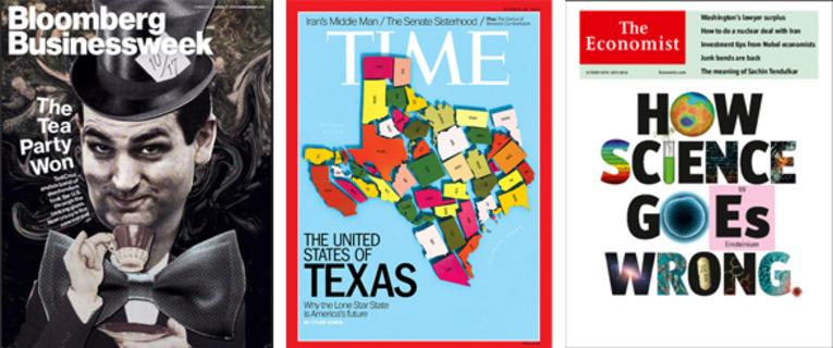 全球週刊封面故事:誤入歧途的科學研究(經濟學人)+德克薩斯合眾國(時代)+傷敵八百、自損三千的茶黨式勝利(彭博商周)