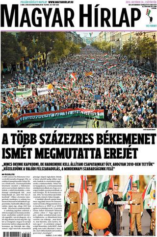 數十萬人上街 再度展現和平的號召力(20131024 匈牙利新聞報)