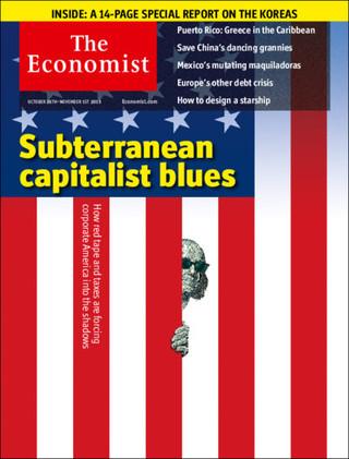 全球周刊封面:地下資本主義藍調(20131028 經濟學人)
