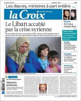 遭敘利亞危機摧殘的黎巴嫩(20131029 法國十字報)