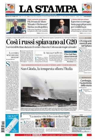 俄羅斯隨身「諜」監控G20(20131029 義大利新聞報)