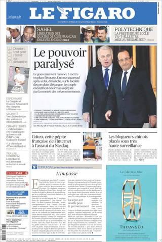 癱瘓的法國政府(20131030 費加洛報 )