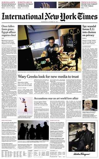 受夠媒體亂象的希臘人尋求新的資訊渠道(20131030  國際先驅論壇報)