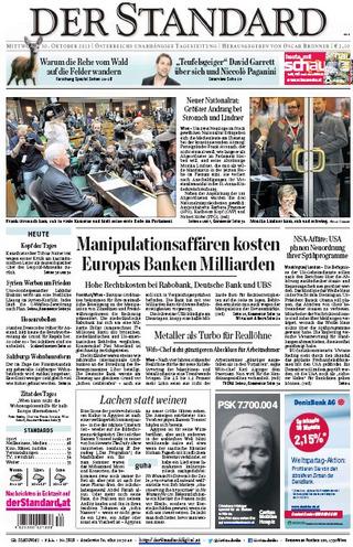 荷蘭合作銀行操縱倫敦銀行同業拆息 判賠10億(20131030 奧地利標準報)