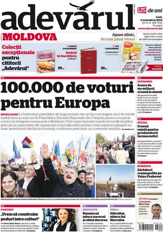 十萬摩爾多瓦人上街挺歐盟(20131104  羅馬尼亞真理報)