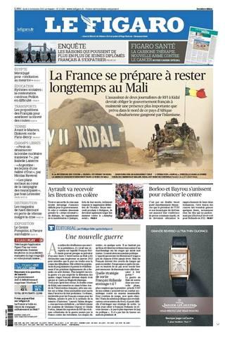 法國準備在馬利長期抗戰(20131104 費加洛報 )