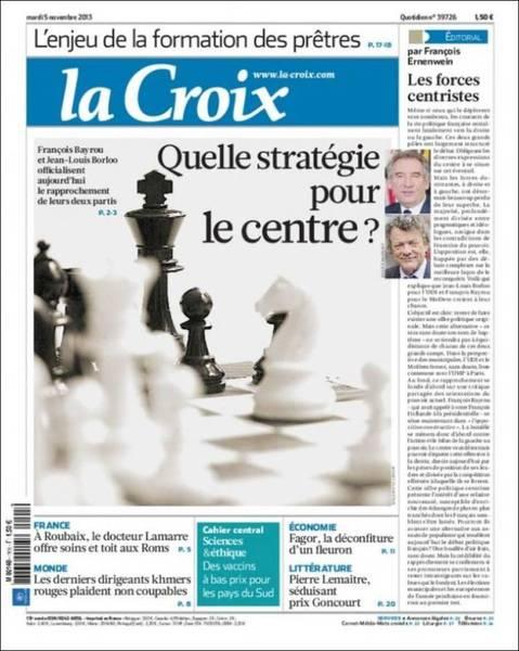 法國中間陣營葫蘆賣什麼藥?(20131105 法國十字報)