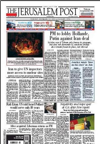 以色列總理遊說法俄(20131112 耶路撒冷郵報)
