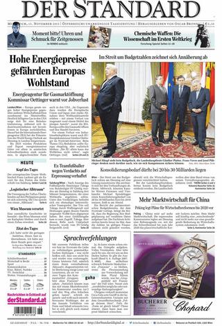 洛陽紙貴的能源將阻礙歐洲繁榮(20131113 奧地利標準報)