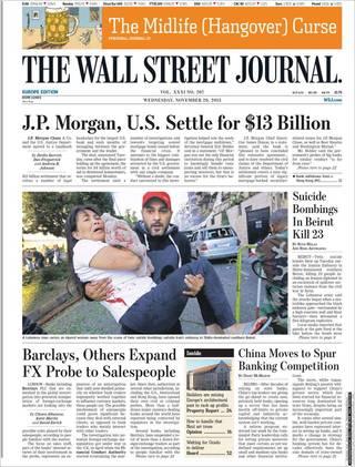 摩根大通賠償美國政府130億美元(20131120 華爾街日報)