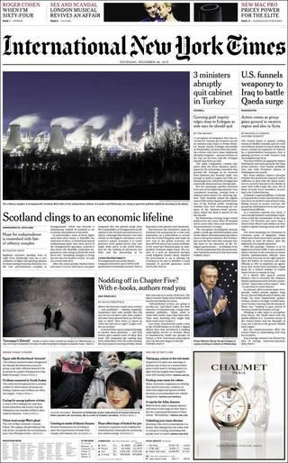 蘇格蘭仰仗能源命脈(20131226 紐約時報國際版)