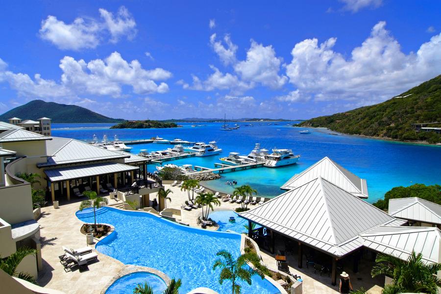全世界著名的避稅勝地英屬維京群島(BVI)。(photo by 維基百科)