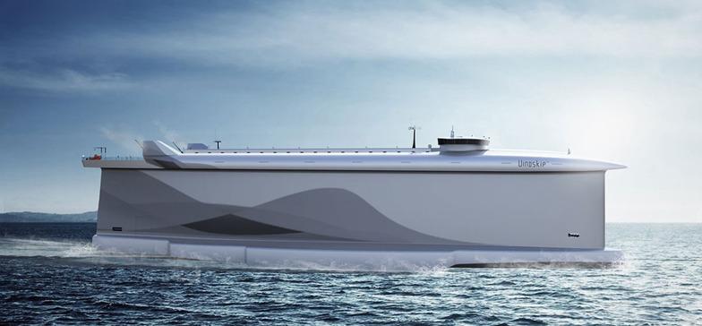 為了改善貨輪汙染全球海洋的現象,挪威軍方研發出一款以風能驅動的貨船。〈photo by CML〉