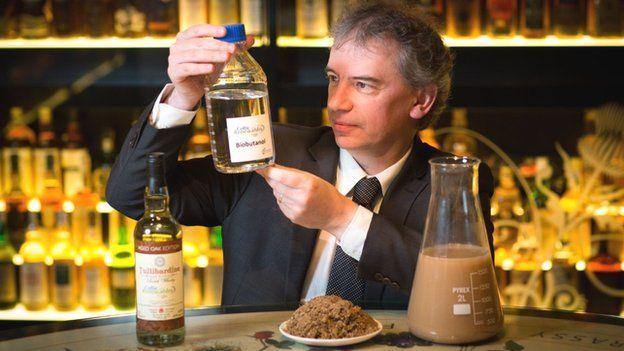 英國公司Celtic Renewables提出可用釀造威士忌後的副產物製成汽車生質燃料的技術。(photo by Celtic Renewables官方網站)
