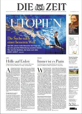 全球週刊封面:尋找烏托邦(20161218 德國時代週報 )