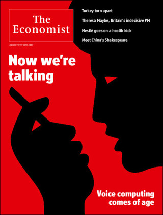 全球週刊封面:當機器說起人話,你信任或是害怕? (20170108 經濟學人)