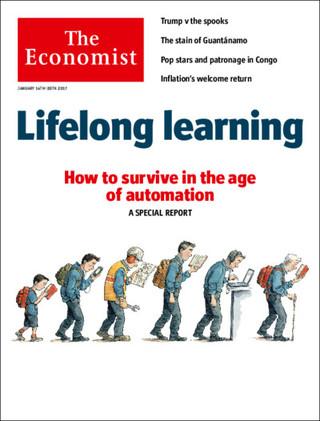 全球週刊封面:自動化時代的人才革命:翻轉教育哲學 (20170115 經濟學人)