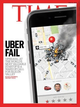 全球週刊封面:  優步管理層自爆的教訓(20170618 時代雜誌)