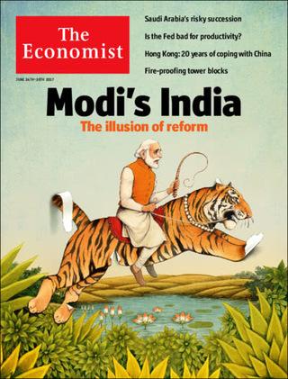 全球週刊封面:戴著改革假面具的印度莫迪  (20170626 經濟學人)
