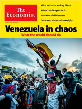 全球週刊封面:委內瑞拉:輔助它轉型,或看著它崩潰?(20170730經濟學人)
