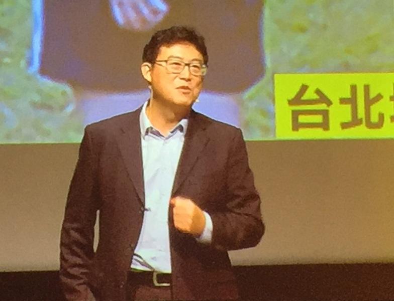 姚文智17日正式宣布參選台北市長,要將台北打造成400公頃的大中央公園。(photo by林晏如/台灣醒報)
