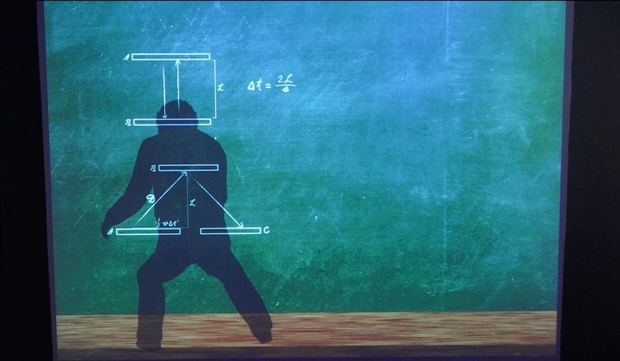 互動體驗能看見愛因斯坦在你眼前揭開難題。(photo by 洪進安/台灣醒報)