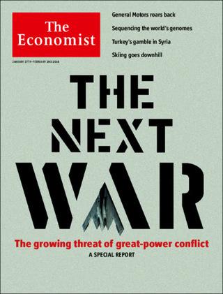 下一次世界大戰的可能(20180128 經濟學人)
