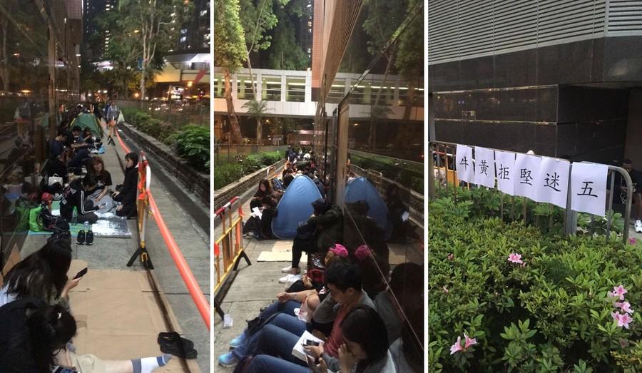 台灣天團「五月天」將在香港舉辦演唱會,「黃牛排隊黨」安排人手到場爭搶門票,以在稍後抬價轉售謀利。(photo by 將軍澳+西貢友facebook專頁)
