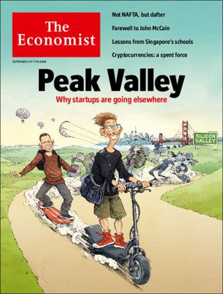 新創基地:尋找矽谷之外的藍天(20180902 經濟學人)