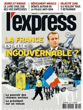黃背心之亂的啟發:當代治國的新挑戰(20190120法國快報)