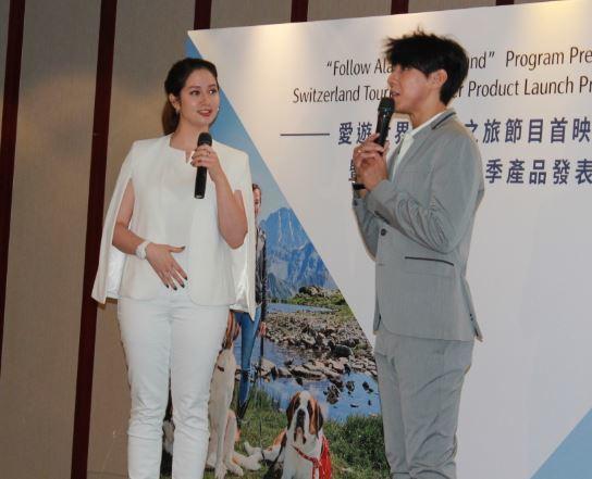 Alana(左) 20於記者會分享勇闖瑞士之旅。(photo by 吳婉瑜)