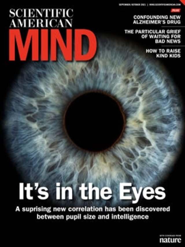 眼睛洩漏你的IQ 瞳孔越大越聰明(科學人 Scientific American)